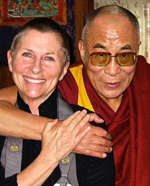 Joan Halifax and Dalai Lama