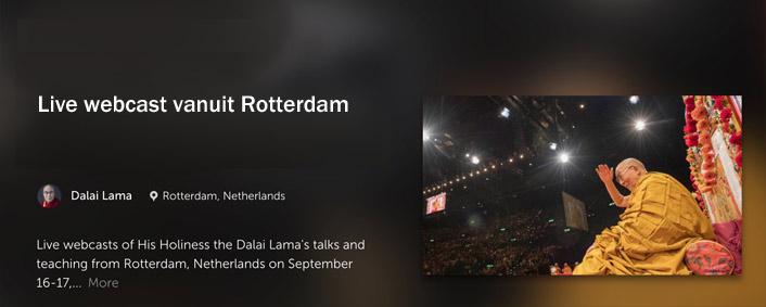 Dalai lama live webscast 2019