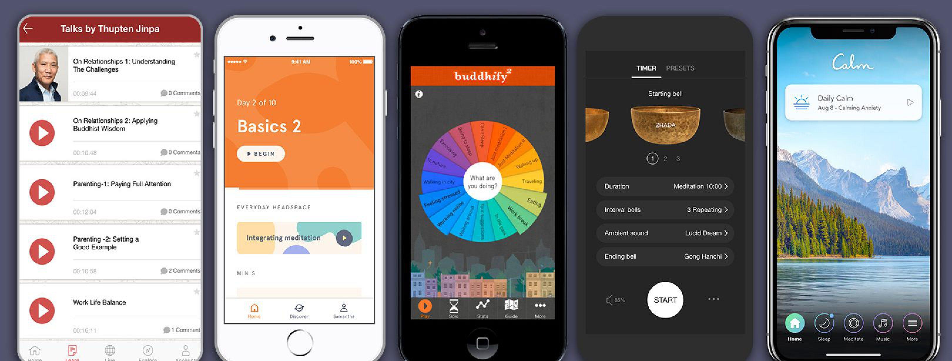 Populaire meditatie apps