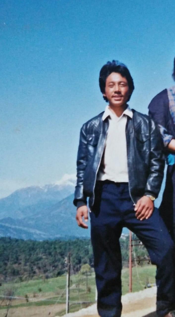 De Tibetaanse Kunchok Jinpa op beeld uit privé archief
