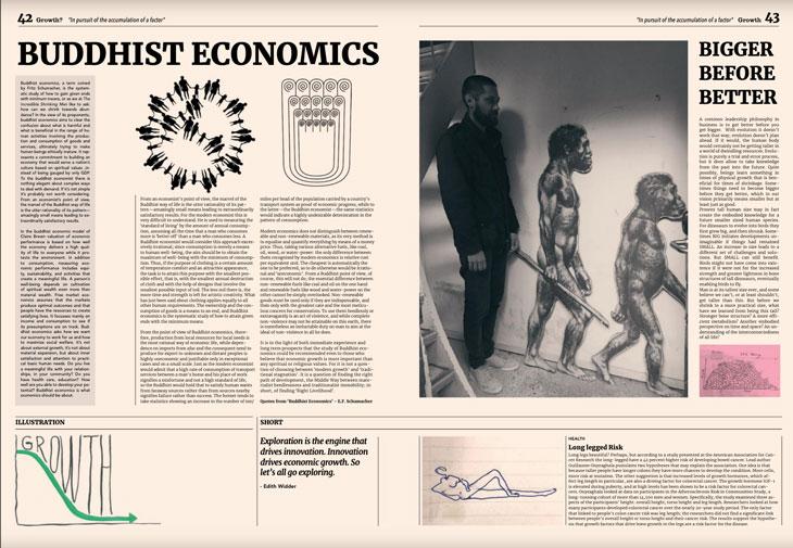 Growth buddhist economics